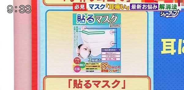 テレビ朝日「羽鳥慎一 モーニングショー」 貼るマスク