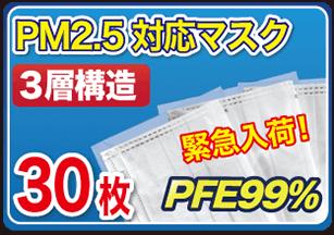 緊急入荷!PM2.5対応3層マスク
