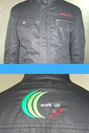 会社制服黒ロゴ