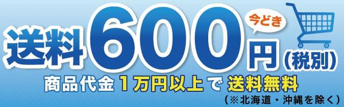 送料600円(税別) 商品代金1万円以上で送料無料(※北海道・沖縄を除く)